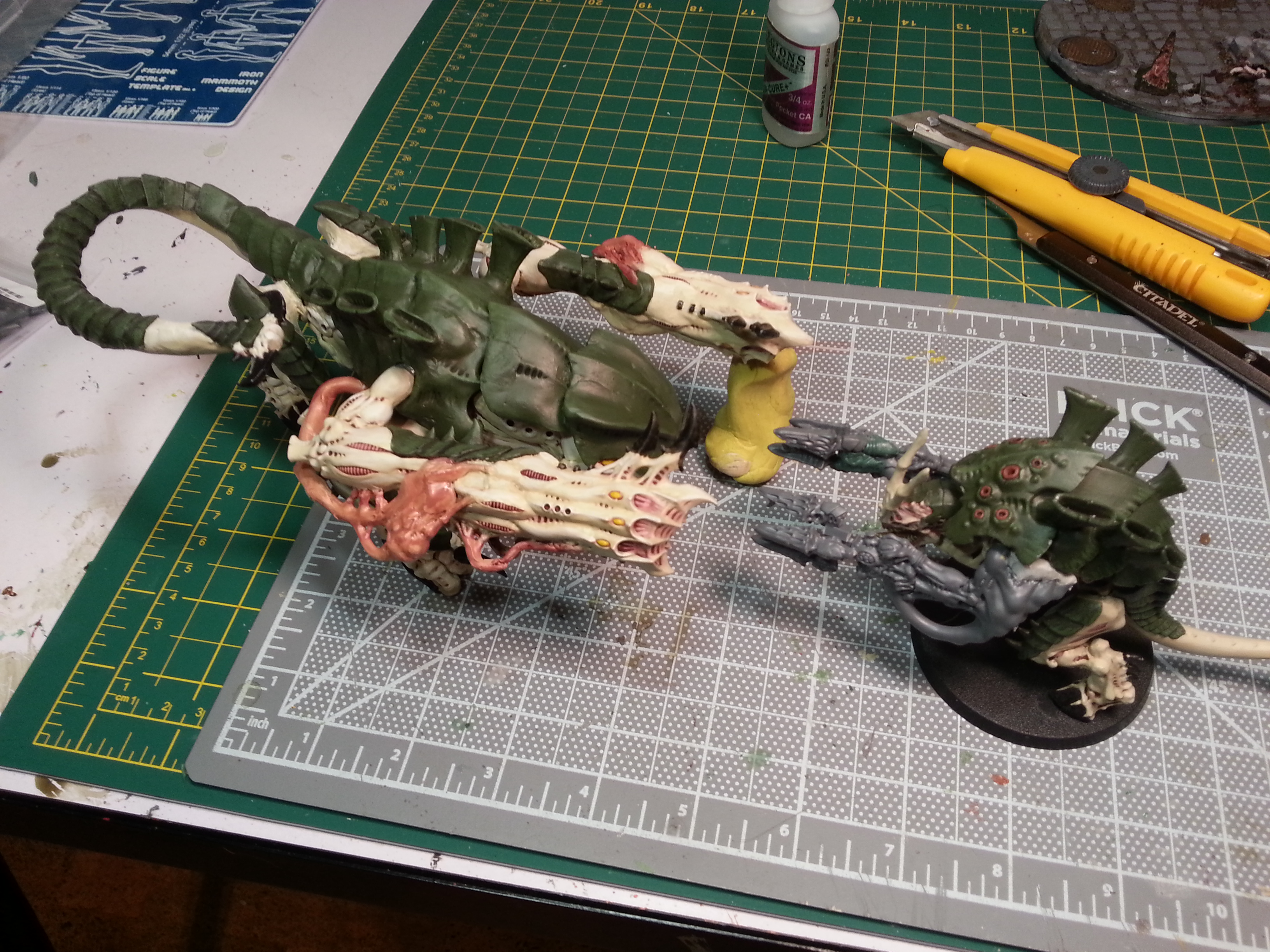 Barbie Step Fourteen - It takes a big critter to make a dakkafex look inadequate.