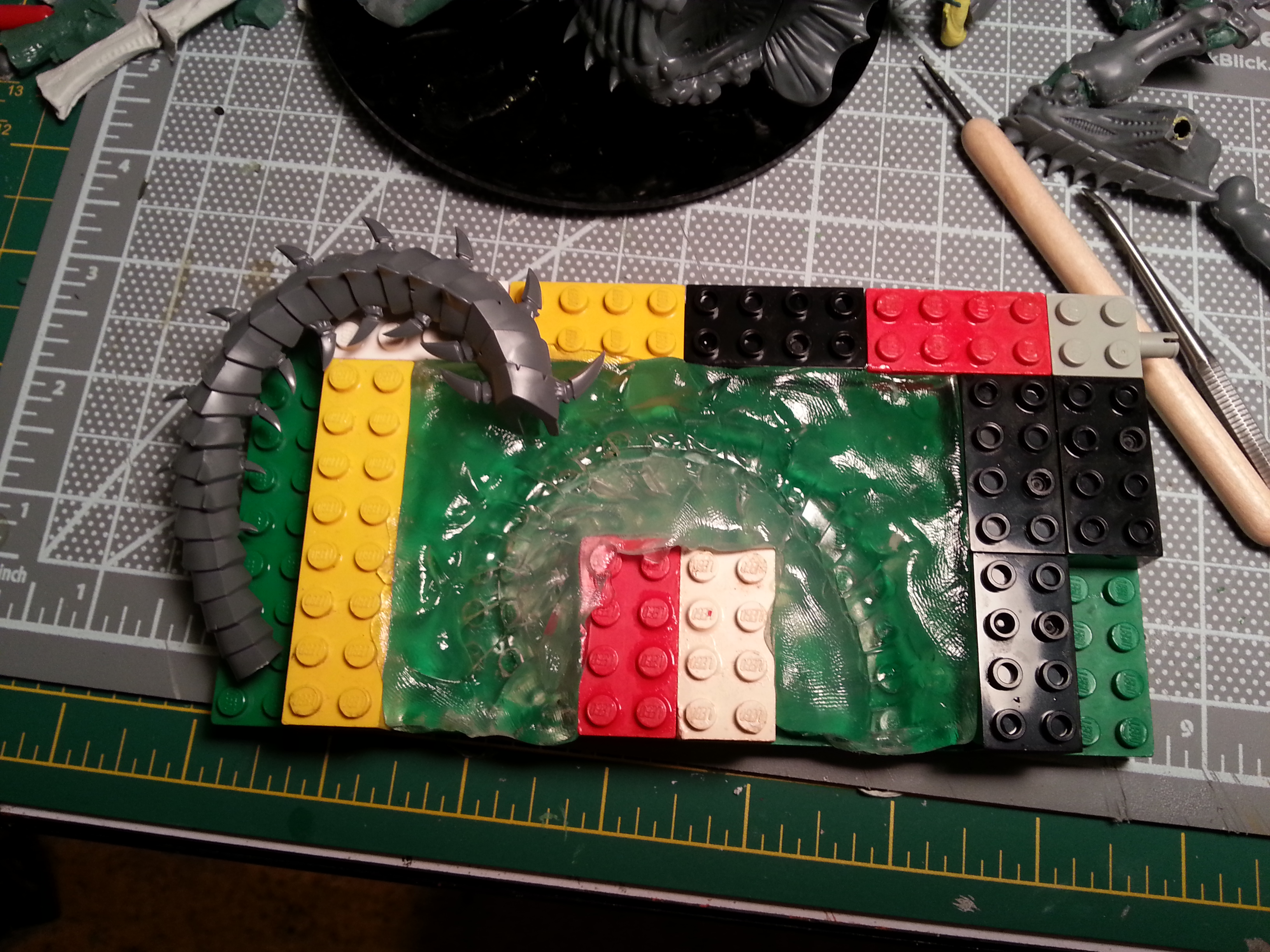 Barbie Step 8 - For this, I did a one-piece open mold. The trygon tail didn